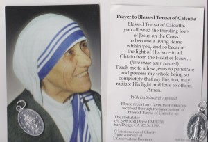 MOTHER  TERESA'S  CARD