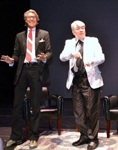 Tommy Tune and Richard Skipper saying good night