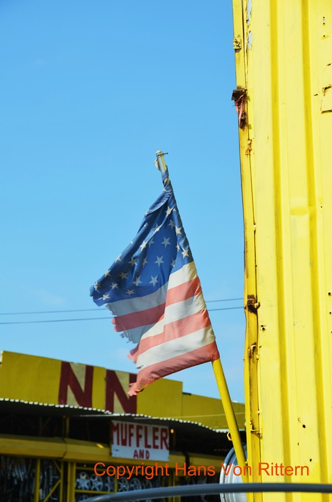 Flag at Willets Point, Queens