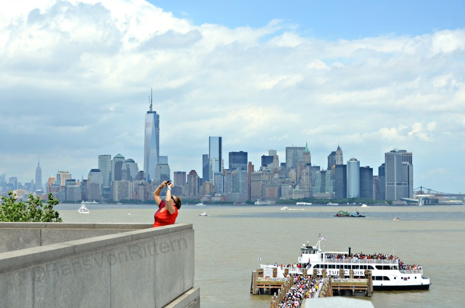 View of Manhattan from Liberty Island, July 4, 2013