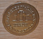 AMERICAN FURNITURE FOUNDATION MEDALLION
