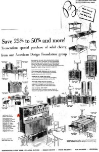 Bloomingdales 1959 American Design Foundation furniture ad