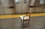 Chair in the #4 subway