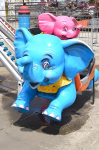 Coney Island flying elephants