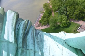 In the arms of Liberty.