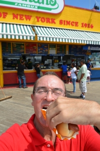 Hans Von Rittern (me) taking a bite out of Coney !