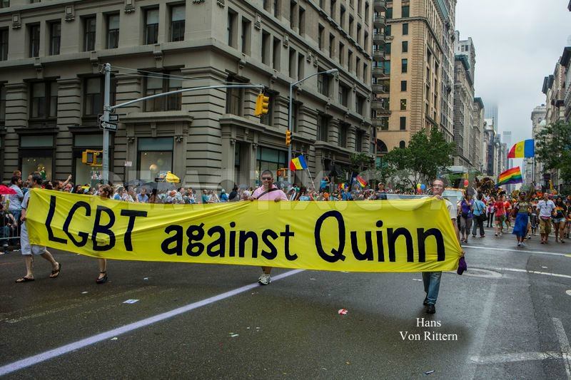 HANS MARCHING IN PRIDE AGAINST QUINN