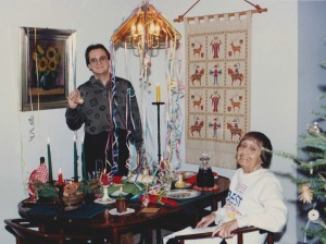 "New Years Eve 1992 with grandmother aka ""Oma"""
