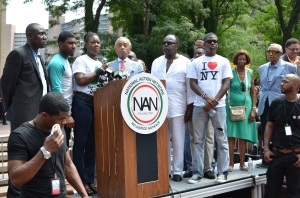 Speakers at New York Trayon rally