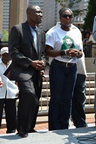 Sybrina Fulton and attorney Crump