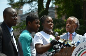 Attorney Crump, Jahvaris Martin, Sybrina Fulton, Rev. Al Sharpton