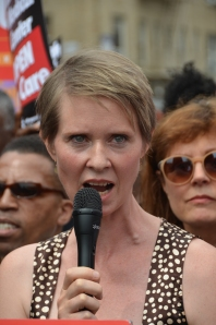 CYNTHIA NIXON PROTESTS
