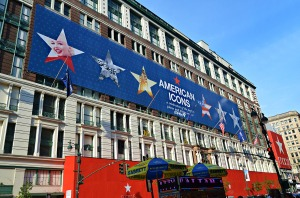 Macy's American Icon banner, summer 2013