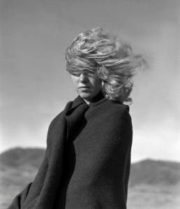 Hauntingly beautiful, Norma Jeane Baker windswept