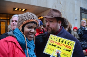 2011 TOUR GUIDE PROTEST at NBC STUDIOS
