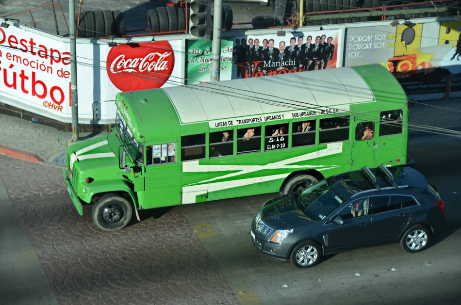 AERIAL TIJUANA BUS VIEW©