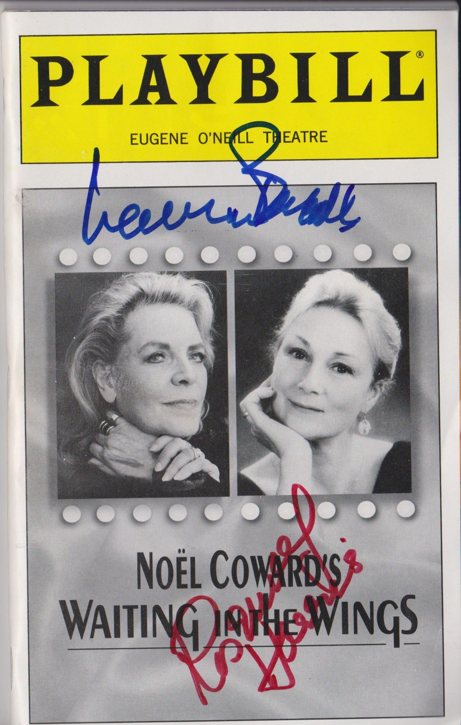 LAUREN BACALL PLAYBILL