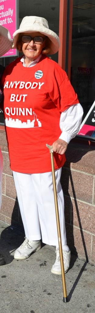 87 year old Ursula Von Rittern, defiant voter!