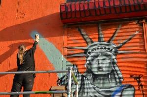 Muralist VERONIQUE BARRILOT makes her (final?) statement