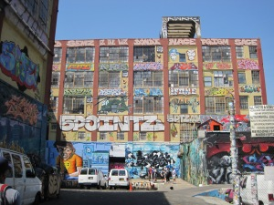 5 Pointz, Jackson Avenue at Crane Street and Davis Street, the whole block, Long Island City, NY 11101, #7 train Court Street stop.