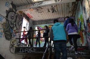 The coolest part of the 5 Pointz tour!
