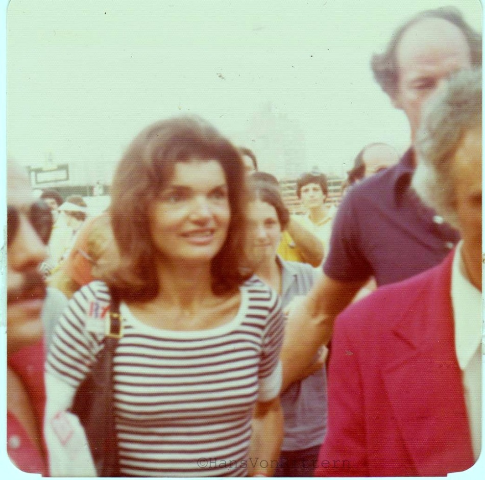 Jacqueline Kennedy, early 1970's, Forest Hills Queens tennis matches.