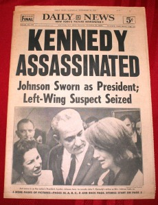 Kennedy New York Daily News  November 23, 1963