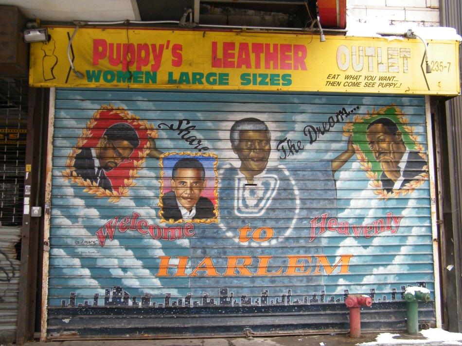 Nelson Mandela mural 125th Street Harlem