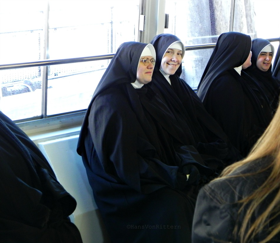 NUNS ON STATEN ISLAND FERRY