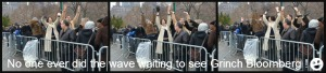 Waiting on line at mayor Bill DeBlasio's open house at Gracie Mansion 1-5-2014