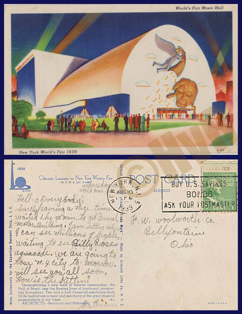 1939 WORLD'S FAIR collage