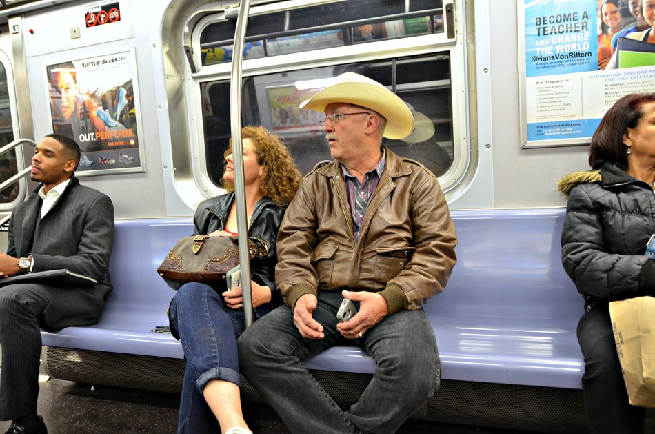 On the #7 train, Grand Central Station stop.