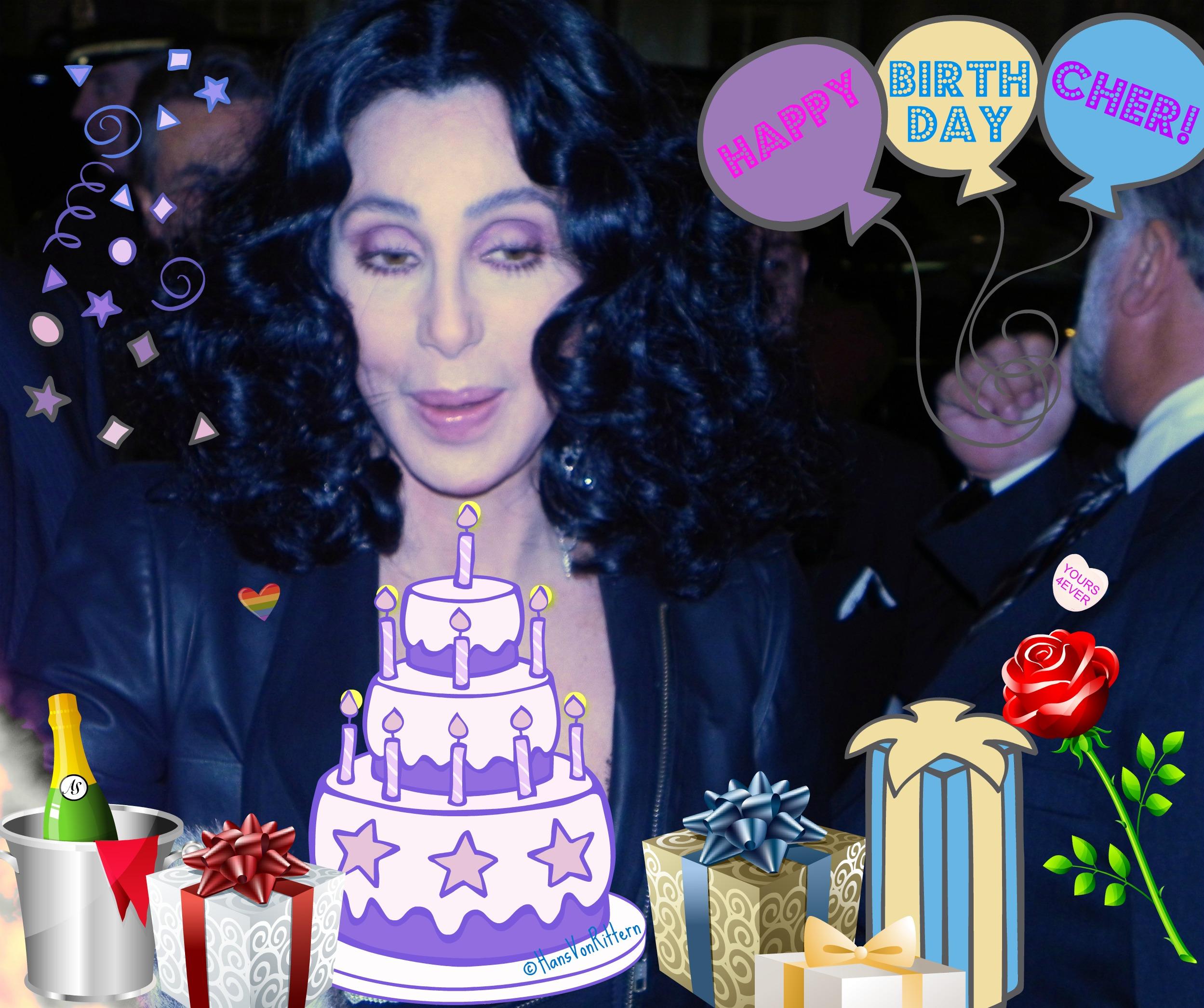 Happy Birthday Cher Cake
