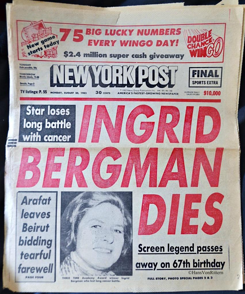 INGRID BERGMAN DIES