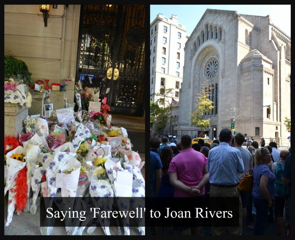 JOAN RIVERS FUNERAL collage